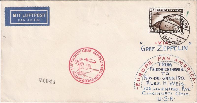 nach - Südamerikafahrt 1930, Post nach Rio de Janeiro Sieger12