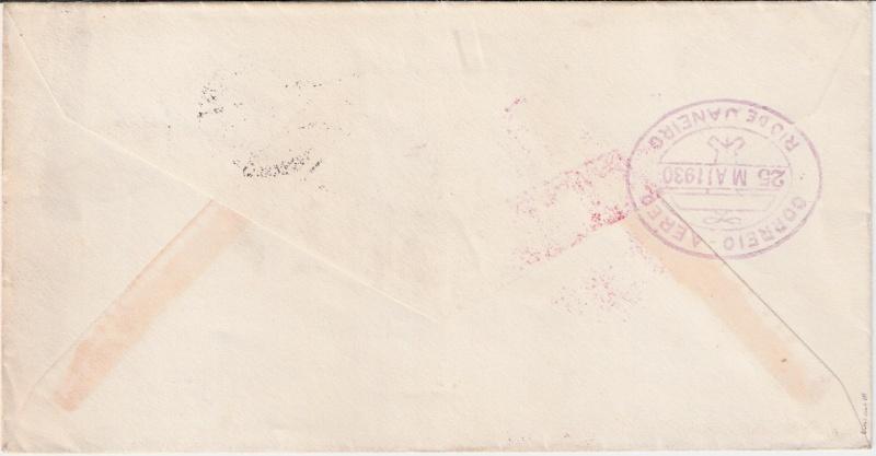 nach - Südamerikafahrt 1930, Post nach Rio de Janeiro Sieger13