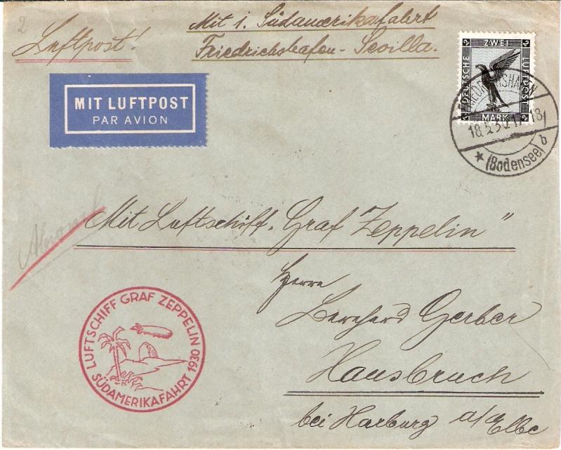 Südamerikafahrt 1930, Post nach Sevilla Sieger16