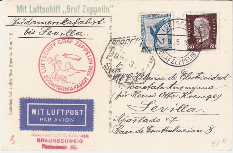 Südamerikafahrt 1930, Post nach Sevilla Sieger19