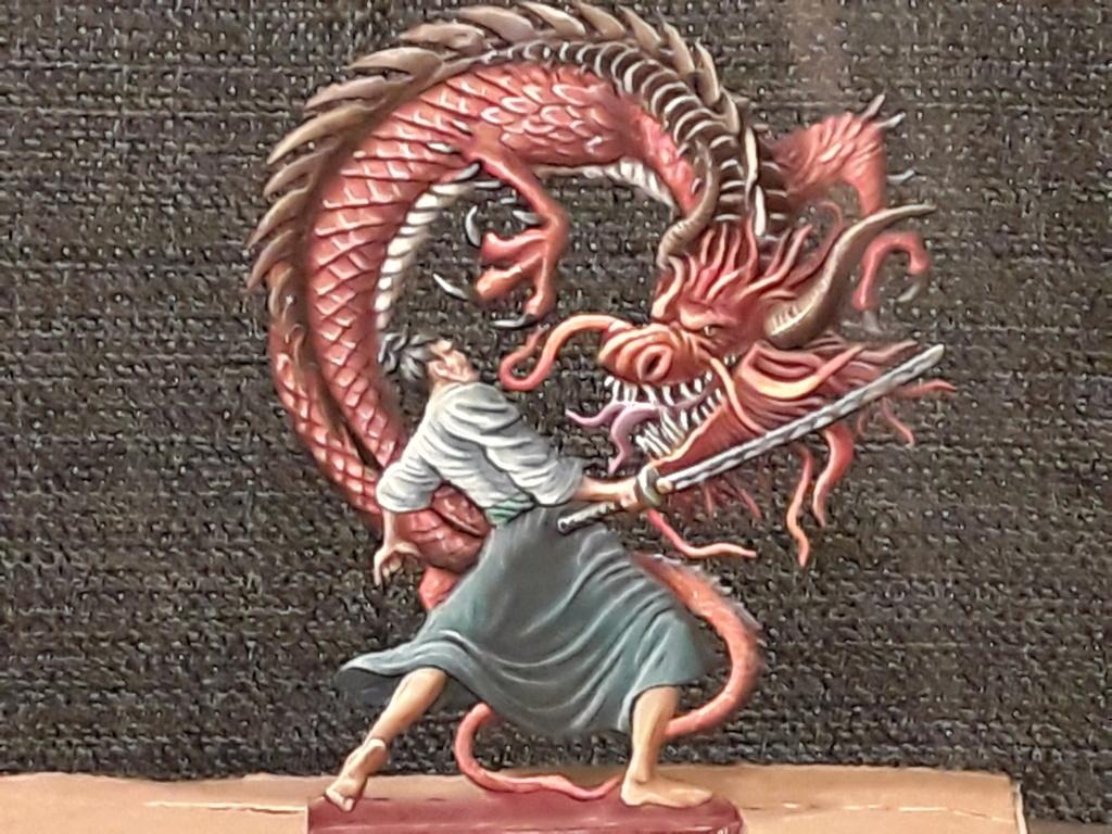 Guerrier japonais et dragon 20180974