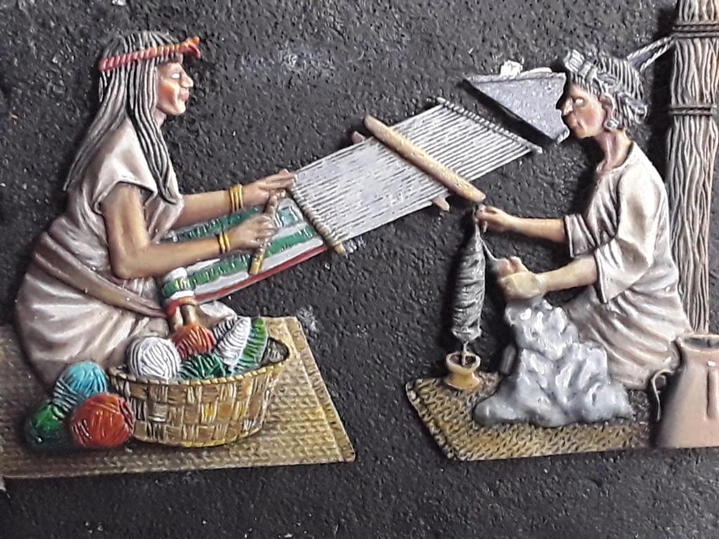 Tisseuses azteques sculptées par Maria José Bolio 20210624