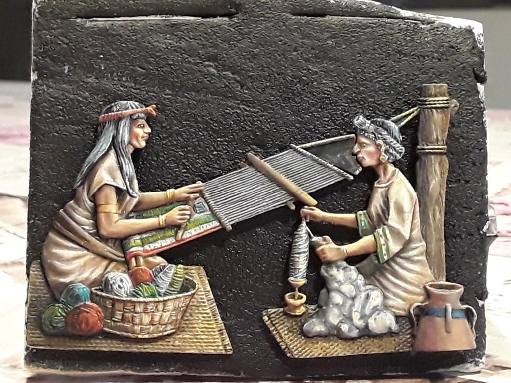 Tisseuses azteques sculptées par Maria José Bolio 20210631