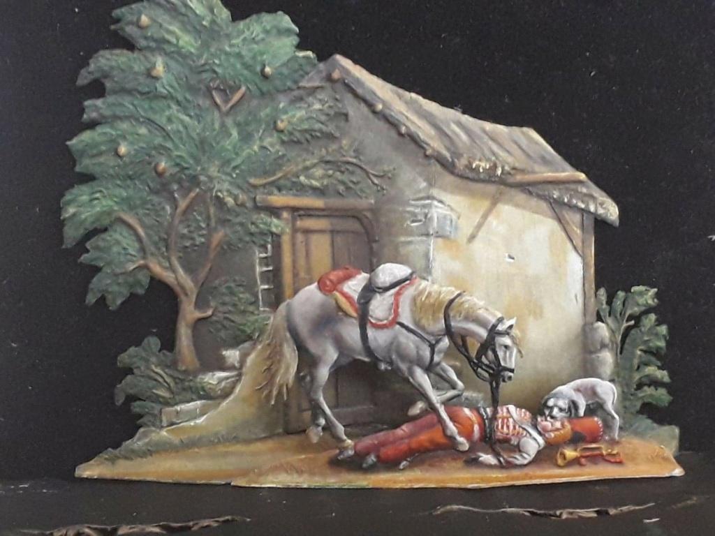 Le trompette blessé  30 mm  D après le  tableau d Horace Vernet Receiv18