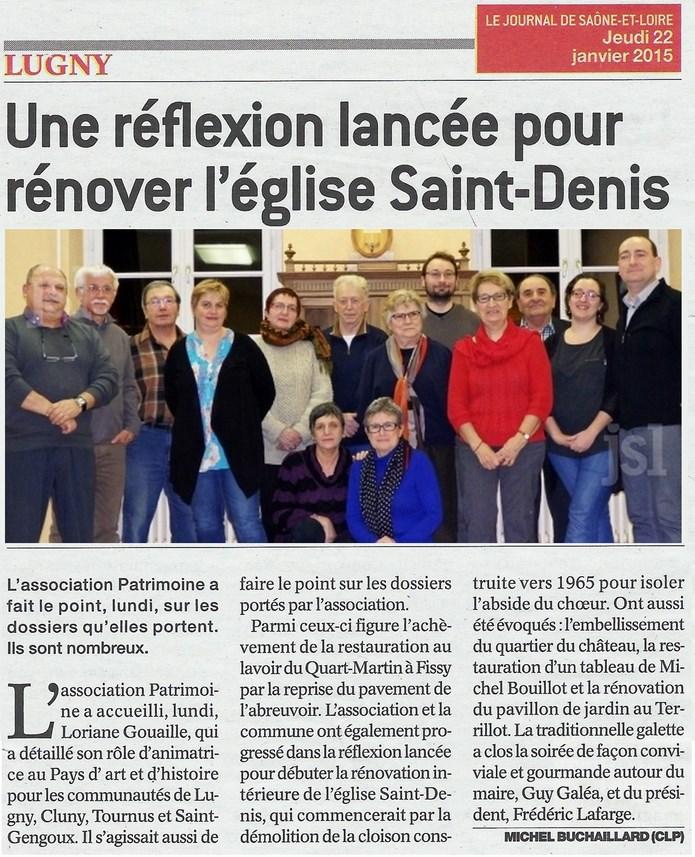Une réflexion lancée pour renover l'église Saint-Denis  Lugny_15