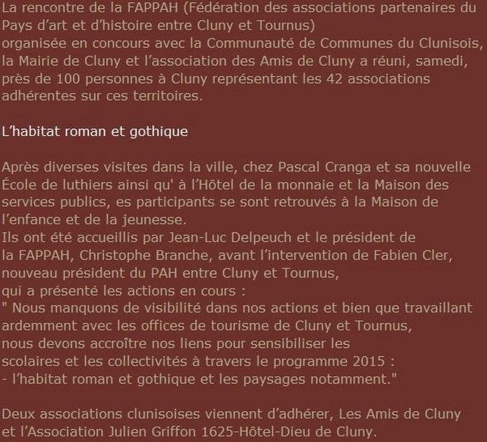 Cluny : pour renforcer les liens autour du patrimoine local Rencon10