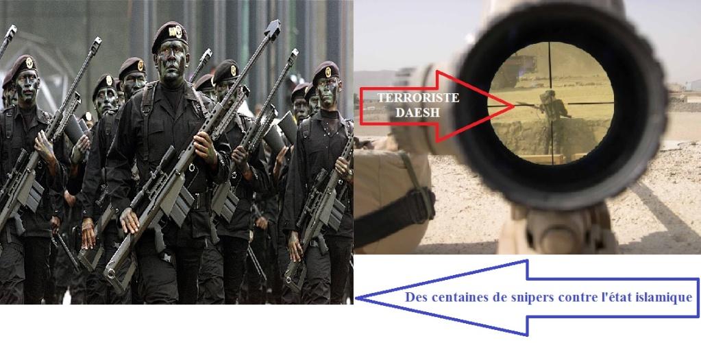 Des snipers veulent affronter l'état islamique  Daesh10