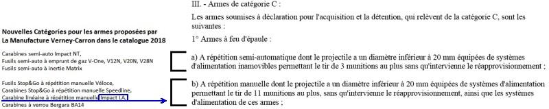 Décret 2018-542 sur les armes en France applicable à partir du 1er aout 2018 - Page 2 Classi10