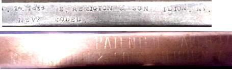 """Reconnaître un """"faux"""" Remington 1858 :  les marquages. Faux_m10"""