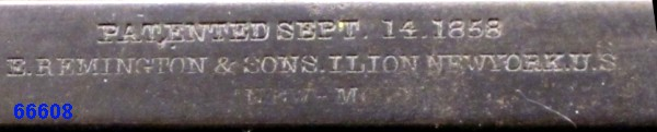 """Reconnaître un """"faux"""" Remington 1858 :  les marquages. Marqua24"""