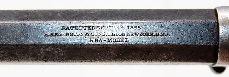 """Reconnaître un """"faux"""" Remington 1858 :  les marquages. Marqua25"""