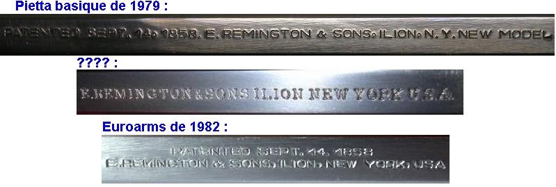 """Reconnaître un """"faux"""" Remington 1858 :  les marquages. Marqua26"""