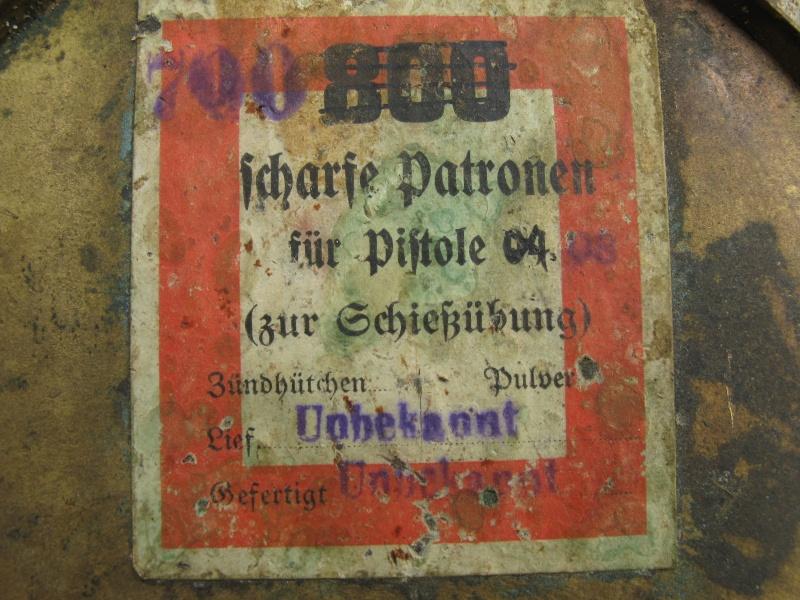 Une caissette à cartouches de la marine impériale allemande. Caisse13