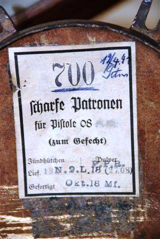 Une caissette à cartouches de la marine impériale allemande. Caisse14