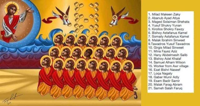 21 coptes trucidés par les djihadistes lybiens du prétendu « Etat islamique » Coptes10