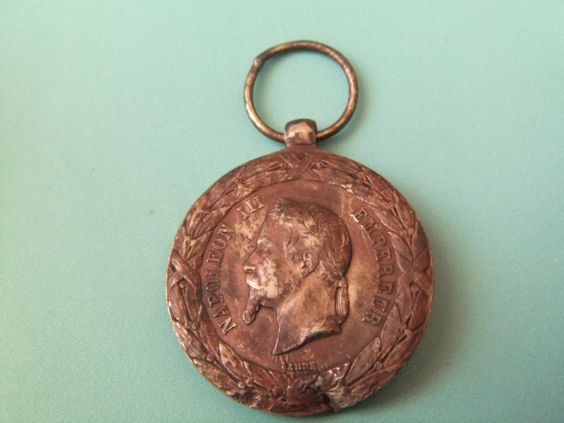 Médaille commémorant la campagne d'Italie de Napoléon III Ebay_313