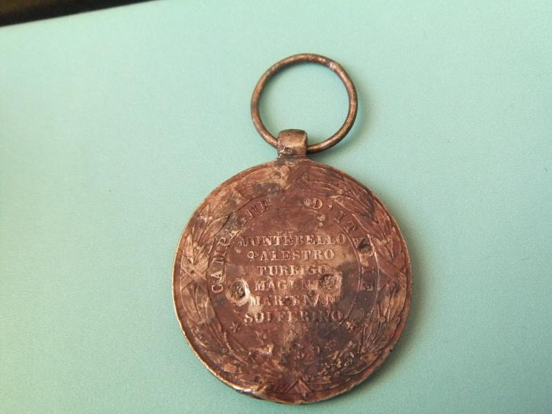 Médaille commémorant la campagne d'Italie de Napoléon III Ebay_314