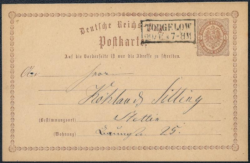 Ortsstempel aus Mecklenburg-Vorpommern 1874-010