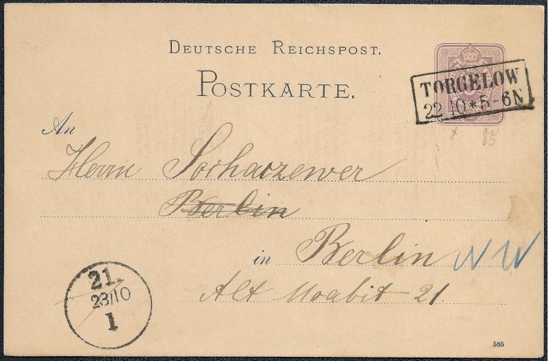 Ortsstempel aus Mecklenburg-Vorpommern 1885-110