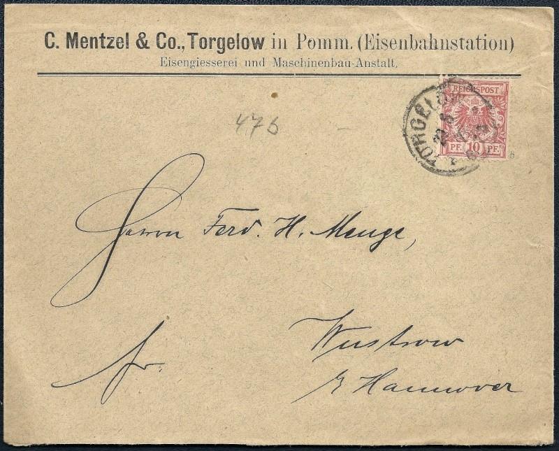 Ortsstempel aus Mecklenburg-Vorpommern 1892-010