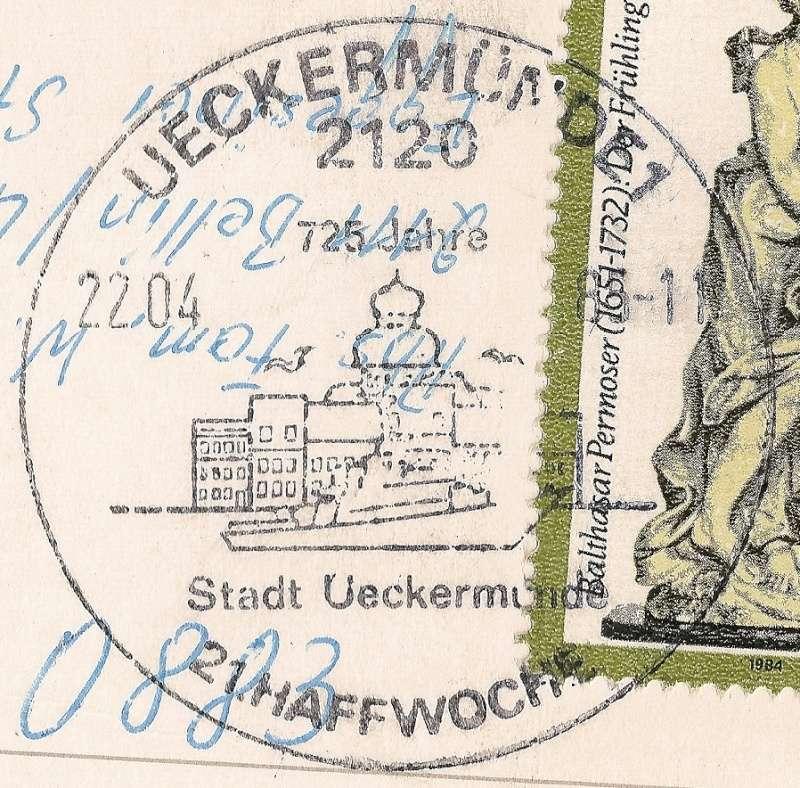 Ortsstempel aus Mecklenburg-Vorpommern 1985-010