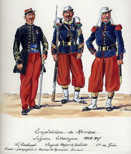 "l heure de la legende ""Legio Patria Nostra Mexique 1863 "" - Page 2 Bois2710"