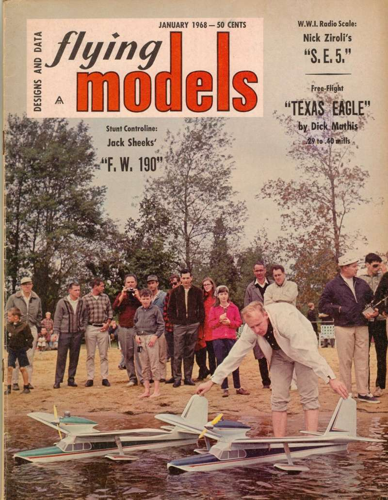 "Old Magazine Morning...""Another Model Airplane Hero"": Don McGovern's 'All Wet' column Flying Models 8/68 Duel_i10"