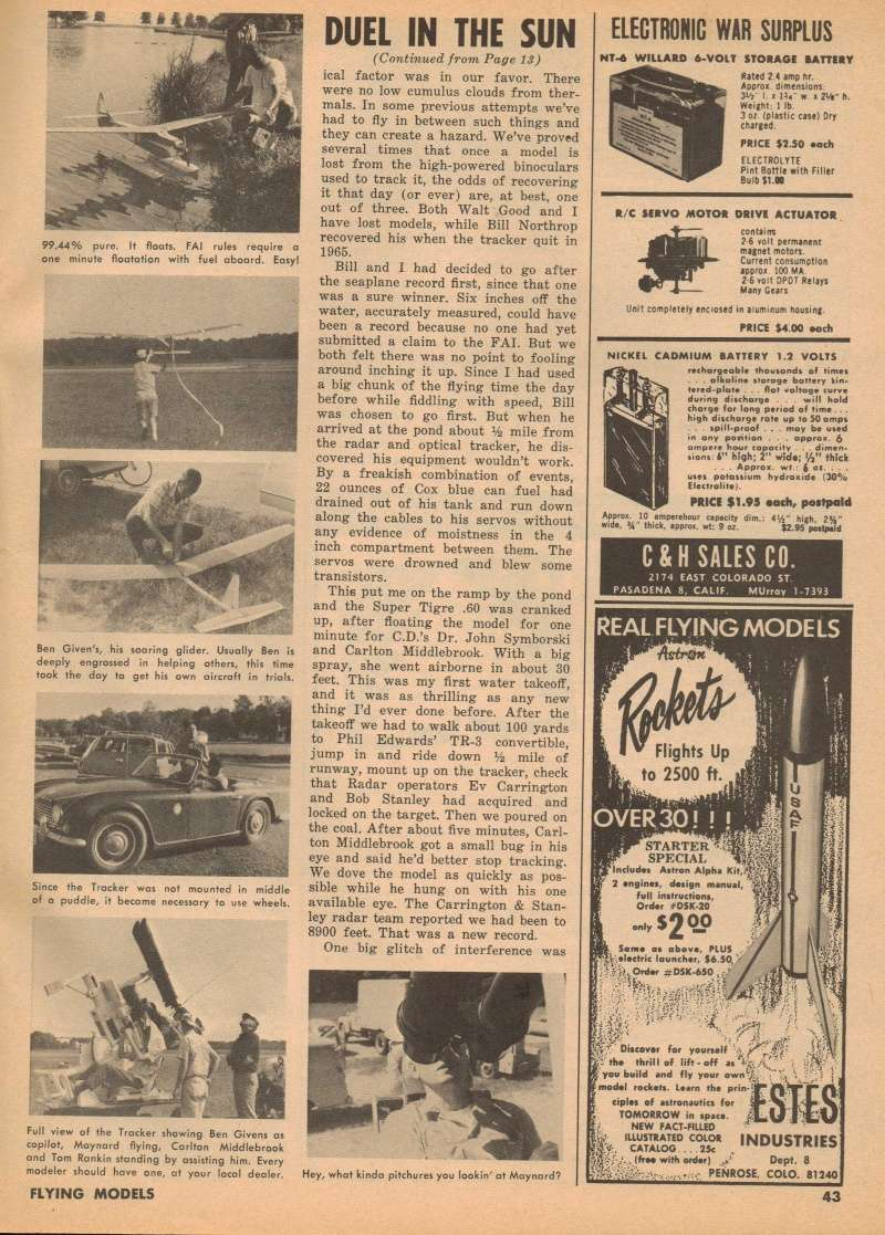 "Old Magazine Morning...""Another Model Airplane Hero"": Don McGovern's 'All Wet' column Flying Models 8/68 Duel_i13"