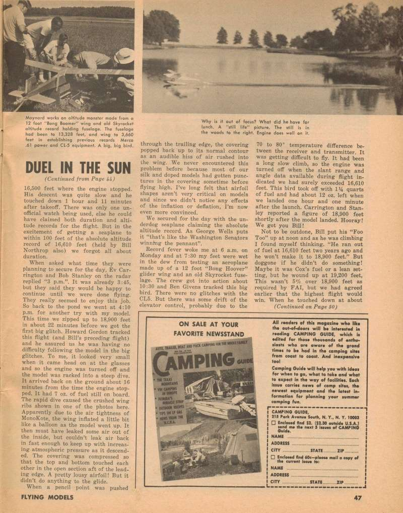 "Old Magazine Morning...""Another Model Airplane Hero"": Don McGovern's 'All Wet' column Flying Models 8/68 Duel_i15"