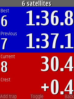 Chronomètrage GPS gratuit : RaceChrono pour Android Live_t10