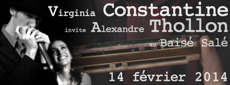 Virginia Constantine invite Alexandre Thollon au baisé Salé le 14 février 2014 Banfac10