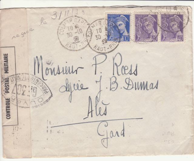 Une des premières lettres contrôlées par la Commission GE de Colmar. _1-f10