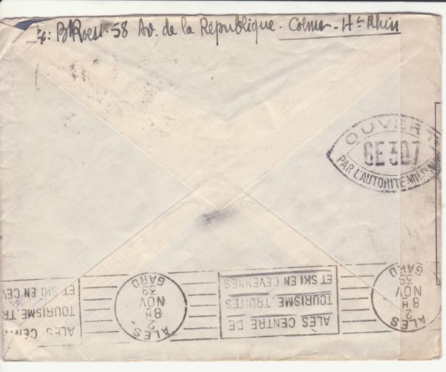 Une des premières lettres contrôlées par la Commission GE de Colmar. _1-g10