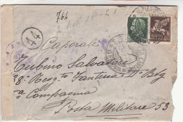 L'envoie de timbres postes est interdite par la censure en Italie. _1002810