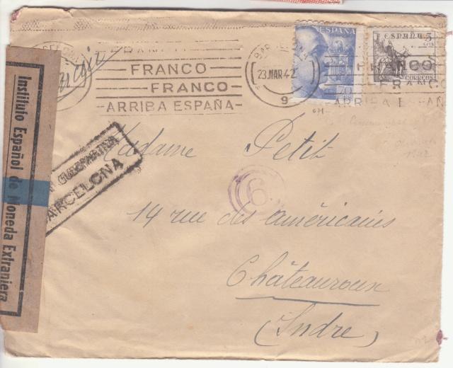 Contrôle des devises du courrier au départ d'Espagne. _1002811