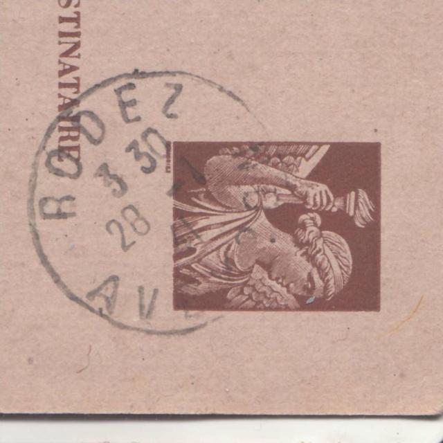 Carte interzone de janvier 1941 avec cachet de censeur de Rodez  _1003510