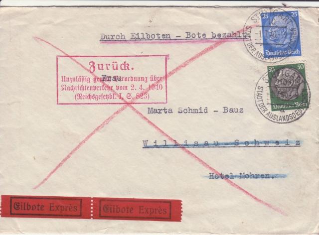 Décret sur les communications de la censure allemande du 02 Avril 1940. (00) _1_01_10