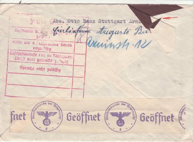 Décret sur les communications de la censure allemande du 02 Avril 1940. (00) _1_01_11
