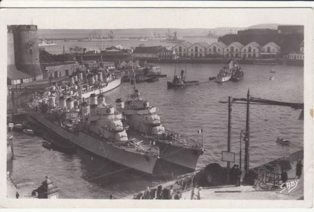Carte à vue de Brest montrant des navires de guerre postée en août 39 pour l'Allemagne!! _1_18_10
