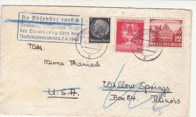 Décret sur les communications de la censure allemande du 02 Avril 1940. (00) _1_a0010