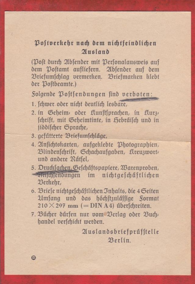 Décret sur les communications de la censure allemande du 02 Avril 1940. (00) _1_aaa12