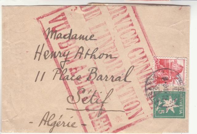 """Cachet """"Service du contrôle des informations en Algèrie"""" sur bande de journal en 1942 _2002111"""