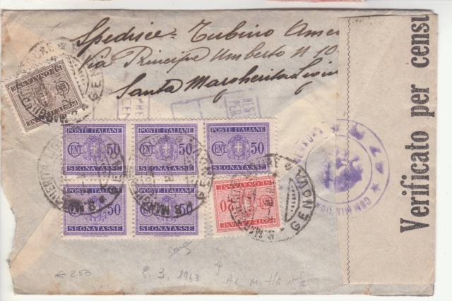 L'envoie de timbres postes est interdite par la censure en Italie. _2002310