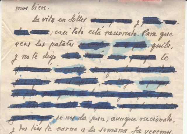 Lettre des Baléares de 1941 avec contenu + papillon du censeur. _2200010
