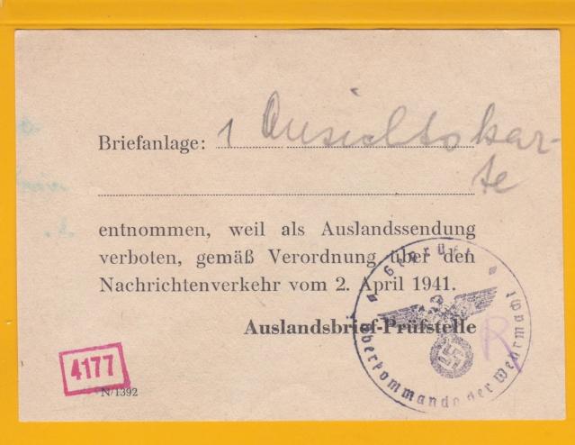 Décret sur les communications de la censure allemande du 02 Avril 1940. (00) _2_10_12
