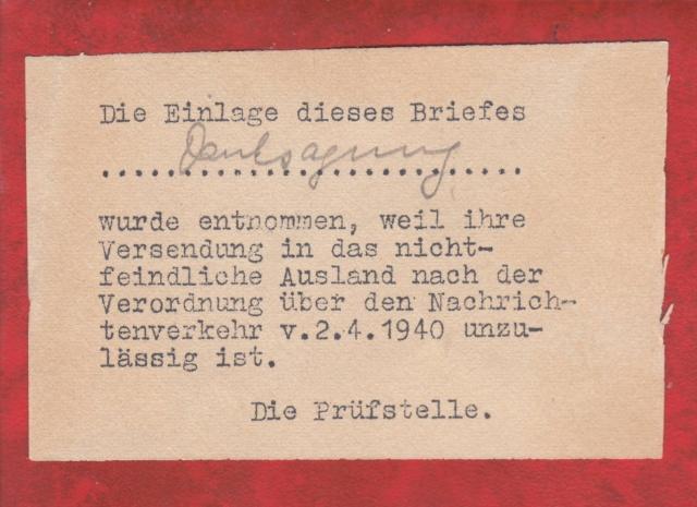 Décret sur les communications de la censure allemande du 02 Avril 1940. (00) _2_aaa12