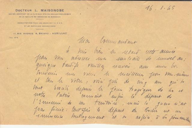 La commission de contrôle d'Aurillac encore en action en janvier 1945 !!  _3002210