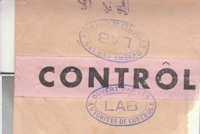"""Lettre en FM d'Albert (Somme) de juin 45 pour Avignon avec censure """"LAB""""- non répertoriée !! _3003310"""
