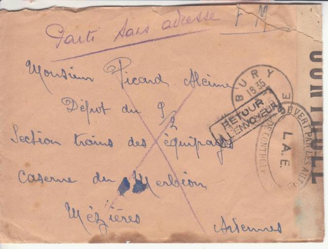 """Lettre en FM d'Albert (Somme) de juin 45 pour Avignon avec censure """"LAB""""- non répertoriée !! _3003410"""