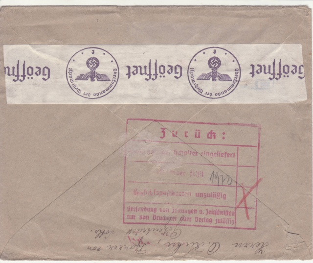 Décret sur les communications de la censure allemande du 02 Avril 1940. (00) _3_25_11